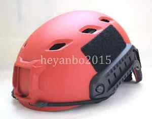 US TACTICAL LIGHTWEIGHT SEAL FAST OPS-CORE BASE JUMP LIFESAVING HELMET RED COLOR