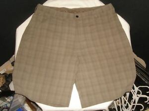 NIKE GOLF FIT DRY FLAT FT. BROWN MENS GOLF SHORTS Sz 38 10