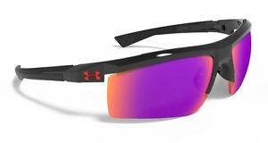 New! Under Armour UA Core 2.0 Shiny Black Frame Gray Infrared Multiflection