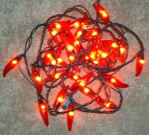 RED CHILI PEPPER String of Lights Set 36 count