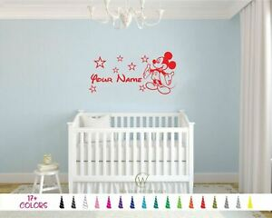 Personalized Name Mickey Mouse Custom Vinyl Wall Decal Decor Sticker WALT DISNEY