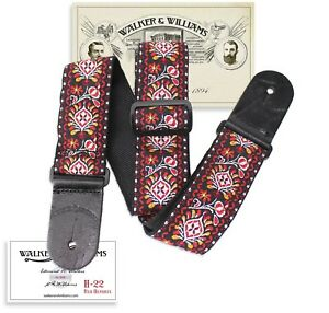 Walker & Williams Vintage Series H-22 Red Hendrix Hootenany Hippie Woven Strap