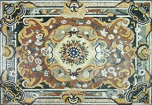 Oriental Rug Carpet Design Pool Terrace Home Marble Mosaic CR523