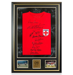 Framed 1966 World Cup Signed Shirt - 50 Years Anniversary Celebration Frame