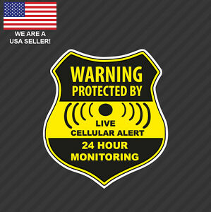 Home CCTV Surveillance Security Camera Video Sticker Warning Decal Signs Window