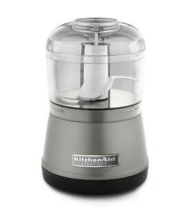 KitchenAid RR KFC3511 KFC3511CS 3.5 Cup Food Chopper Processor Cocoa Silver