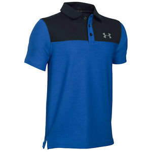 UNDER ARMOUR JUNIOR MATCHPLAY BLOCKED POLO SHIRT -NEW UA GOLF KIDS BOYS TEE 2017