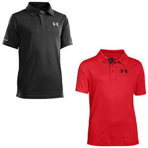 UNDER ARMOUR JUNIOR MATCHPLAY GOLF POLO SHIRT - NEW UA PERFORMANCE KIDS BOYS TOP