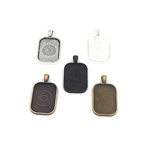 Rectangle Pendant trays 20X30mm you choose colors