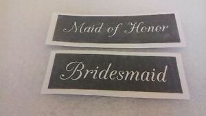 10 - 400 Maid of Honor & Bridesmaid stencils for etching glass (mixed) wedding