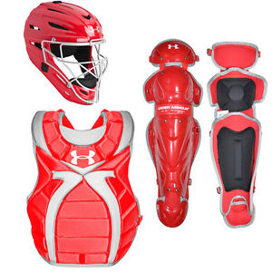 Under Armour Victory Series Intermediate Womens Fastpitch Catchers Set - Scarlet