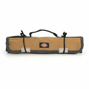 Dickies Gray Tan Small Wrench Roll Sleeve Hand Tool Bag Holder 57007