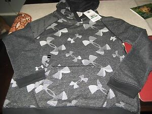 GIRLS YOUTH UNDER ARMOUR ALLSEASON HOODIE HOODY SIZE YLG YOUTHS LARGE GRAY NWT