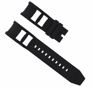 NEW BLACK SILICONE RUBBER WATCH BAND STRAP FOR INVICTA WATCH RUSSIAN DIVER 26MM