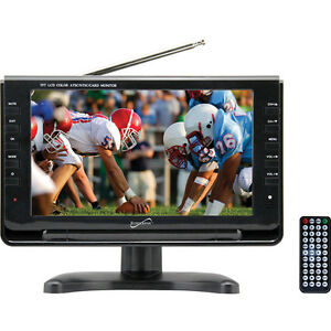 Supersonic 9 Inch Portable Digital LCD TV ACDC Compatible w Built-in Battery
