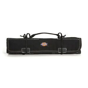 Dickies Black Small Wrench Roll Sleeve Hand Tool Bag Holder Pouch 57061