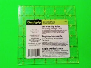 Omnigrid Omnigrip Neon Green 5 1 2 inch x 5 1 2 inch Square Ruler for Quilting $22.50