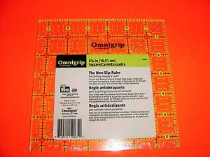 Omnigrid Omnigrip Neon Green 6 1 2 inch x 6 1 2 inch Square Ruler for Quilting $22.50