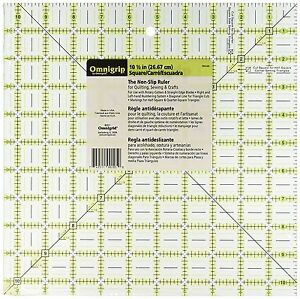 Omnigrid Omnigrip Neon Green 10 1 2 inch x 10 1 2 inch Square Ruler for Quilting $37.50