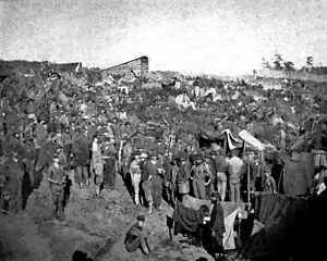 New 8x10 Civil War Photo: Federal Soldiers at Andersonville Prison Georgia $8.99