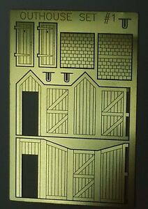 NEW 2 N Scale Outhouse Models 1 Kit USA Photo Etch Brass AMP OUTHOUSE SET#1 $10.99