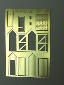 NEW N Scale Outhouse Model USA PE Brass AMP OUTHOUSE SET#2 w exterior frame $9.99
