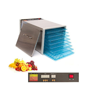 8 Tray Stainless Steel Food Fruit Dehydrator with Digital Timer