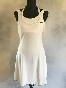 Nike Serena Williams Sphere Fit Dry White Tennis Dress sz M Discontinued NWT