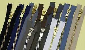 Jeans Zips, No. 5 Medium/Heavy Duty, Metal Teeth, Choices of Colours and Lengths