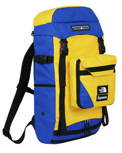 Supreme North Face Steep Tech Royal Yellow Backpack TNF Box Logo Limited