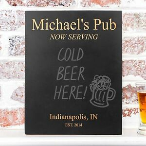 New Personalized Wood Bar Chalkboard Sign