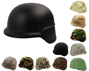 US Pasgt Swat Airsoft M88 Style Plastic Military Tactical Helmet With Cover -BK