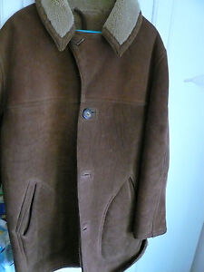 ABERCROMBIE & FITCH 'VINTAGE' SHEEPSKIN SHEARLING JACKET COAT-MENS SZ 40-GORJUS