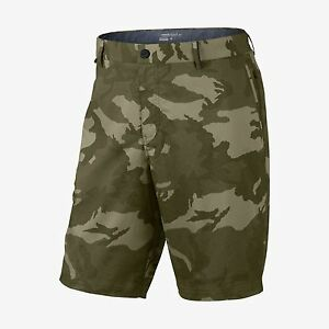 Nike sz 34 Men's Modern Fit CAMO Print Golf Shorts NEW $95 746651 325 Green NWT