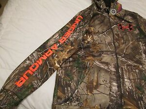 NEW Mens UNDER ARMOUR Coldgear REAL TREE XTRA INFRARED CAMO Hoodie XL FREE SHIP