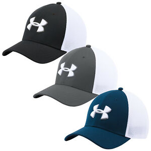 Under Armour Mens Mesh Stretch Fit 2.0 Hat - New Baseball Cap UA Golf Sports