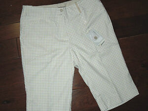 NIKE Fit Dry GOLF  Tan Houndstooth check Bermuda SHORTS  size  4