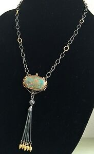 Turkish Handmade Turquoise Necklace 925 Sterling Silver Foxtail Tassel Y Pendant