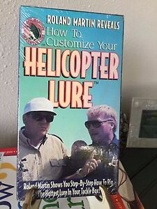ROLAND MARTIN#x27;S HOW TO CUSTOMIZE HELICOPTER LURE STEP BY STEP VHS 1994 SEALED
