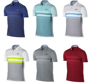 2016 Nike Modern Fit Transition Dry Stripe Polo Men's Dri Fit Golf Shirt 802851