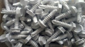 10 x 34in Hex Tek Screws Ceramic Painted (Lot of 1000)