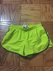 Under Armour yellow shorts size S
