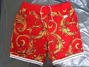 SUPREME x NIKE foamposite shorts RED WORN ONCE 9.710 size XL extra large