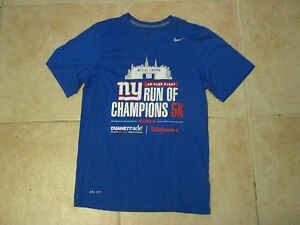 NIKE NEW YORK GIANTS #12 NYRR 5K RUN OF CHAMPIONS SMALL DRI-FIT SHIRT PRE-OWNED