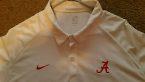ALABAMA Crimson Tide  3X Nike Team Polo Style Shirt NIKE FIT DRY Dri WORN ONCE