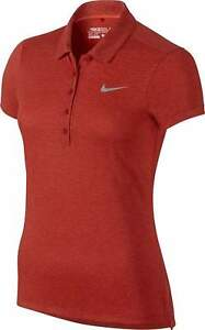 NIKE WOMENS XS GOLF DRI-FIT PRECISION POLO SHIRT 873192 696 $75 RED HEATHERED