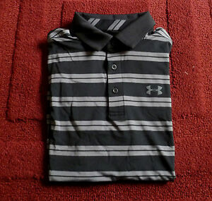 NWT Mens Under Armour Polo Golf Shirt Heat Gear Performance Dry Fit Loose Fit S