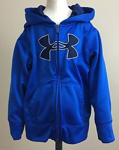 Under Armour Toddler Boys Royal Blue Full Zip Fleece Lined Hoodie. Size 4T.