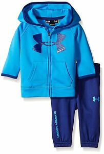Under Armour Baby Active Big Logo Hoodie Set Brilliant Blue 18 Months