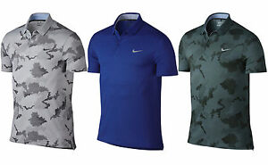 2016 Nike Modern Fit Transition Dry Print Golf Polo Men's Shirt - 802849